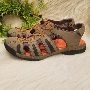 f6664e1f5ea Clarks Shoes - NEW Clarks Tuvia Melon Tan Fisherman Sandal